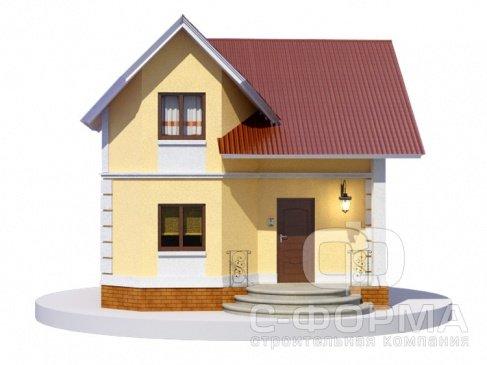 Проект П4-1. Модель дома из пеноблоков 7*8,5