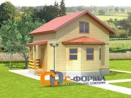 Дом 6х6 модель 1