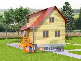 Дом 6х6 модель 4