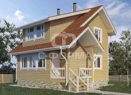 Дом 6х7 модель 3