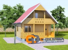 Дом мини 6х6 модель 7