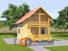 Дом 6х6 модель 6