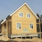 Дом по индивидуальному проекту 10х8 из бруса